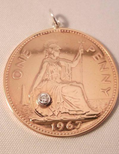 One Penny Pendant